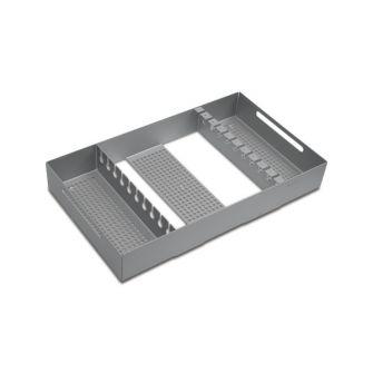 Sterilisierbehälter mit Sortiergestell für Bohrdrähte