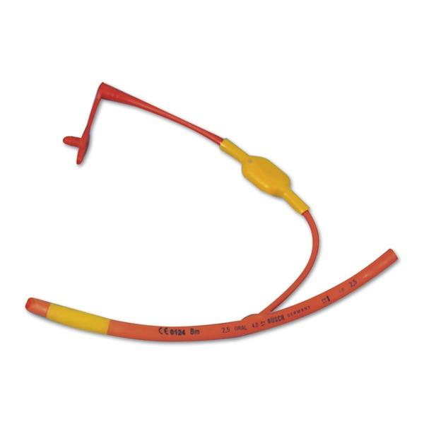 Trachealtuben RÜSCH aus rotem Weichgummi