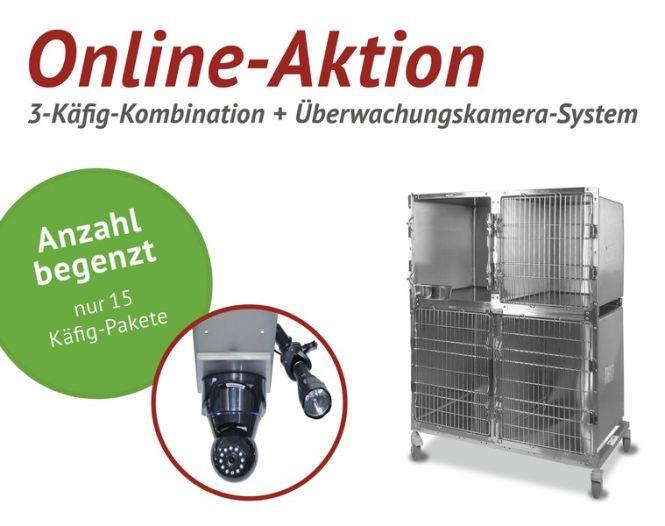 Online-Aktion: 3-Käfig-Kombination von SHOR-LINE + YesWeCanSee Videoüberwachungs-System